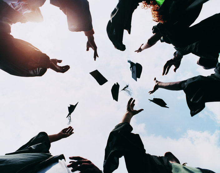 Throwing Grad Caps with Arms